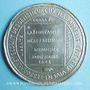 Monnaies Révolution de 1848. Médailles politiques. Médaille étain coulé. 68 mm