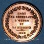 Monnaies Révolution de 1848. Mort du général Duvivier. Médaille cuivre. 23,8