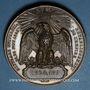 Monnaies Révolution de 1848. Plébiscite pour l'empire. 21 et 22 novembre 1852. Médaille bronze
