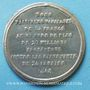 Monnaies Révolution de 1848. Proclamation de la République. Médaille étain. 40 mm