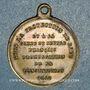 Monnaies Révolution de 1848. Promulgation de la Constitution. Médaille cuivre jaune. 23,4 mm