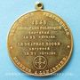 Monnaies Révolution de 1848. Rejet du drapeau rouge. Médaille cuivre jaune. 37,2 mm