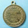 Monnaies Révolution de 1848. Représentants et Généraux tués ou blessés. Médaille cuivre jaune. 23 mm