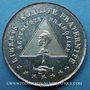Monnaies Révolution de 1848. Violation de l'Assemblée par l'émeute. Médaille cuivre blanchi. 27 mm