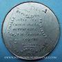 Monnaies Révolution de 1848. Vote de la Constitution. Médaille étain. 46 mm