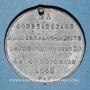 Monnaies Révolution de 1848. Vote de la Constitution. Médaille plomb. 35 mm