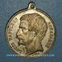 Monnaies Révolution de 1848. Vote du Plébiscite 1851. Médaille cuivre blanchi. 35 mm