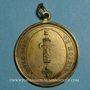 Monnaies Révolution. Insigne uniface vivre libre ou mourir. 1792. Cuivre jaune avec bélière et anneau