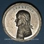 Monnaies Traité de Campo Formio. 1797. Médaille étain. 40 mm avec Kupferstich (morceau de cuivre)