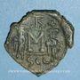 Monnaies Constant II et ses fils Constantin IV, Héraclius et Tibère. Follis. Syracuse, 662-667