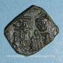 Monnaies Constant II et ses fils Constantin IV, Héraclius et Tibère. Follis. Syracuse, an 4 (660-661)