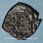 Monnaies Empire byz. Constant II (641-668). Follis refrappé /ancienne monnaie. Constantinople, an 3 = 643-644