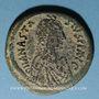 Monnaies Empire byzantin. Anastase (491-518). Follis. Constantinople, 4e officine, 498-518