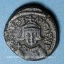 Monnaies Empire byzantin. Constant II (641-668). 1/2 follis.Carthage 643-647. Variante inédite !