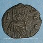 Monnaies Empire byzantin. Constantin V (741-775) et son fils Léon IV. Follis. Syracuse, 751-775