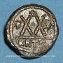 Monnaies Empire byzantin. Héraclius (610-641). 1/2 follis. Carthage, 5e indiction, 616-621