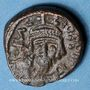 Monnaies Empire byzantin. Héraclius (610-641). 1/2 follis. Carthage, 610-641
