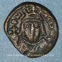 Monnaies Empire byzantin. Héraclius (610-641). 1/2 follis. Carthage, 616-621