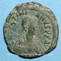 Monnaies Empire byzantin. Justin I (518-527). Follis. Constantinople, 2e officine. 527-532