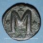 Monnaies Empire byzantin. Justin I (518-527). Follis. Constantinople, 518-527