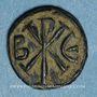 Monnaies Empire byzantin. Justin I (518-527). Pentanoummion. Constantinople. 2e officine, 522-527