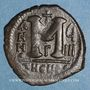 Monnaies Empire byzantin. Justin II (565-578). 1/2 follis. Théoupolis (Antioche).1ère officine 574-575