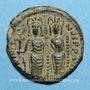 Monnaies Empire byzantin. Justin II (565-578). 1/2 follis. Thessalonique. 568-569