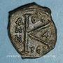 Monnaies Empire byzantin. Justin II (565-578). 1/2 follis. Thessalonique. 575-576