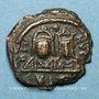 Monnaies Empire byzantin. Justin II (565-578). Décanoummion. Carthage, 572-573