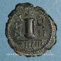 Monnaies Empire byzantin. Justin II (565-578). Décanoummion. Théoupolis (Antioche). 571-572