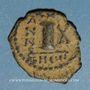 Monnaies Empire byzantin. Justin II (565-578). Décanoummion. Théoupolis (Antioche), 574-575