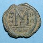 Monnaies Empire byzantin. Justin II (565-578). Follis. Constantinople. 3e officine, 568-569