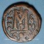 Monnaies Empire byzantin. Justin II (565-578). Follis. Constantinople, 3e officine, 572-573