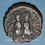 Monnaies Empire byzantin. Justin II (565-578). Follis. Cyzique, 2e officine, 573-574