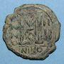 Monnaies Empire byzantin. Justin II (565-578). Follis. Nicomédie. 1ère officine, 568-569