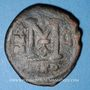 Monnaies Empire byzantin. Justin II (565-578). Follis. Nicomédie, 1ère officine, 570-571