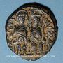 Monnaies Empire byzantin. Justin II (565-578). Follis. Nicomédie, 1ère officine, 571-572