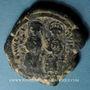 Monnaies Empire byzantin. Justin II (565-578). Follis. Nicomédie, 2e officine, 568-569 ?