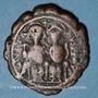 Monnaies Empire byzantin. Justin II (565-578). Follis. Nicomédie, 2e officine, 569-570