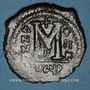 Monnaies Empire byzantin. Justin II (565-578). Follis. Théoupolis (Antioche), 3e officine, 566-567