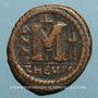 Monnaies Empire byzantin. Justin II (565-578). Follis. Théoupolis (Antioche), 3e officine, 571-572