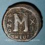 Monnaies Empire byzantin. Justin II (565-578). Follis. Théoupolis (Antioche), 3e officine, 575-576
