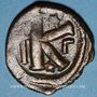 Monnaies Empire byzantin. Justinien I (527-565). 1/2 follis. Constantinople, 3e officine