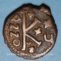 Monnaies Empire byzantin. Justinien I (527-565). 1/2 follis. Cyzique, 551-552