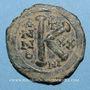 Monnaies Empire byzantin. Justinien I (527-565). 1/2 follis. Nicomédie, 546-547