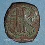 Monnaies Empire byzantin. Justinien I (527-565). 1/2 follis. Théoupolis (Antioche). 529-533