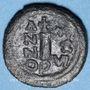 Monnaies Empire byzantin. Justinien I (527-565). Décanoummion. Atelier incertain : Perogia (Pérouse) 552-553