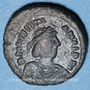 Monnaies Empire byzantin. Justinien I (527-565). Décanoummion. Atelier incertain : Perugia  552-553
