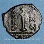 Monnaies Empire byzantin. Justinien I (527-565). Décanoummion. Théoupolis (Antioche), 551-552