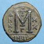 Monnaies Empire byzantin. Justinien I (527-565). Follis. Antioche. 3e officine, 546-547